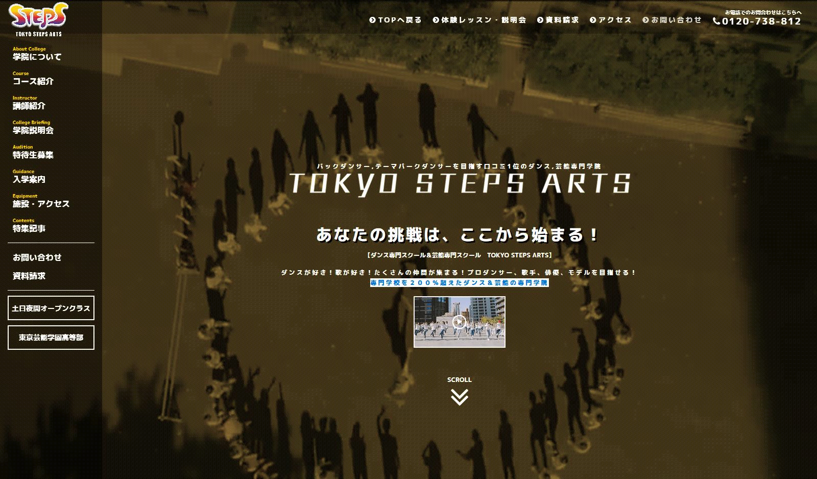 ダンス・芸能・俳優・歌手の専門学校【TOKYO-STEPS-ARTS】